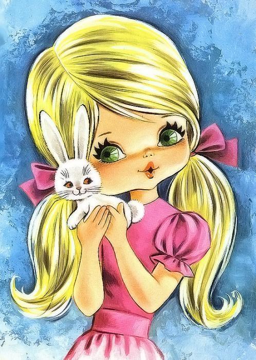 Детские открытки для девушек