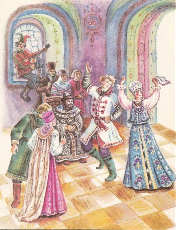 Русская народная сказка царевна лягушка с картинками