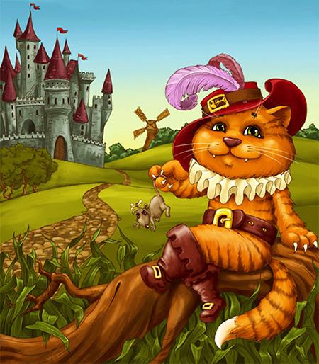Великан в кот в сапогах