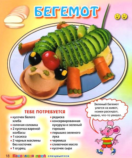 Готовим весёлые бутерброды на день