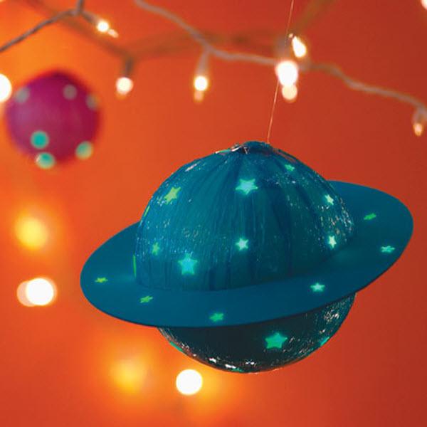 Новогодняя космическая игрушка своими руками