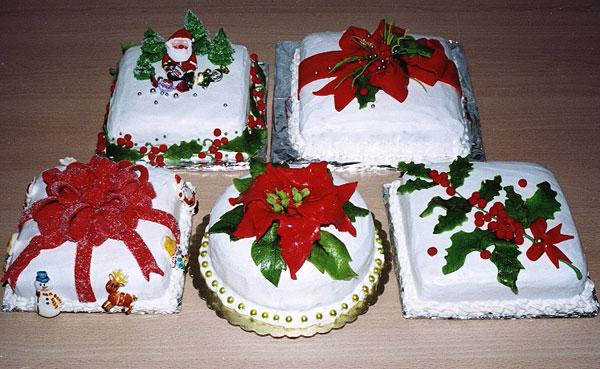 Новогодние украшения для торта своими руками
