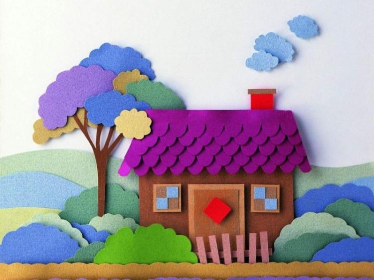 Подделки своими руками для дома из цветной бумаги