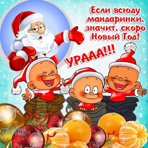 Прикольные новогодние картинки с поздравлениями