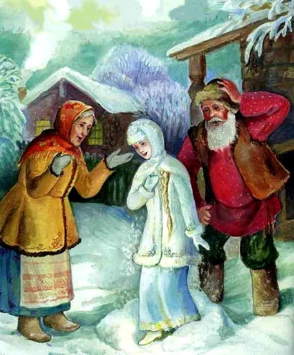 Картинки, картинки старика и старухи из русских сказок