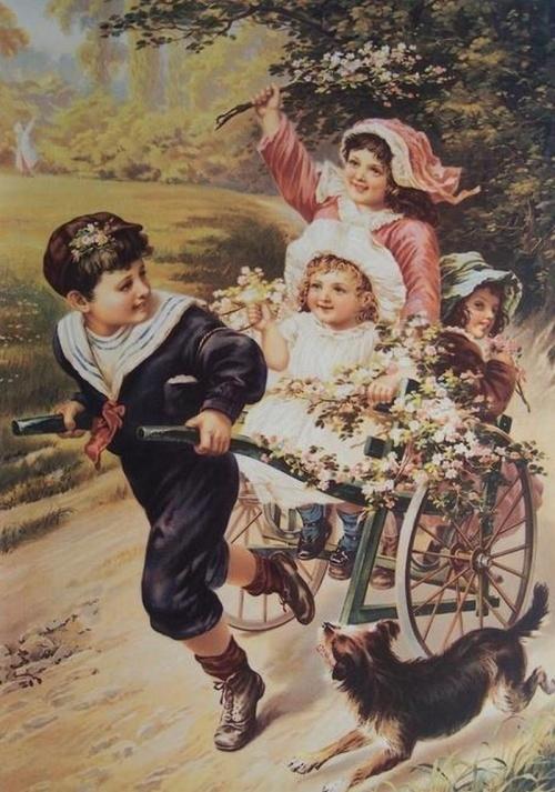 тяжёлые открытки старые с детьми если при этом