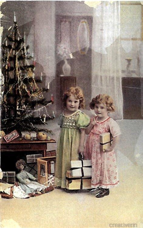 Днем, новогодние открытки фото старинные