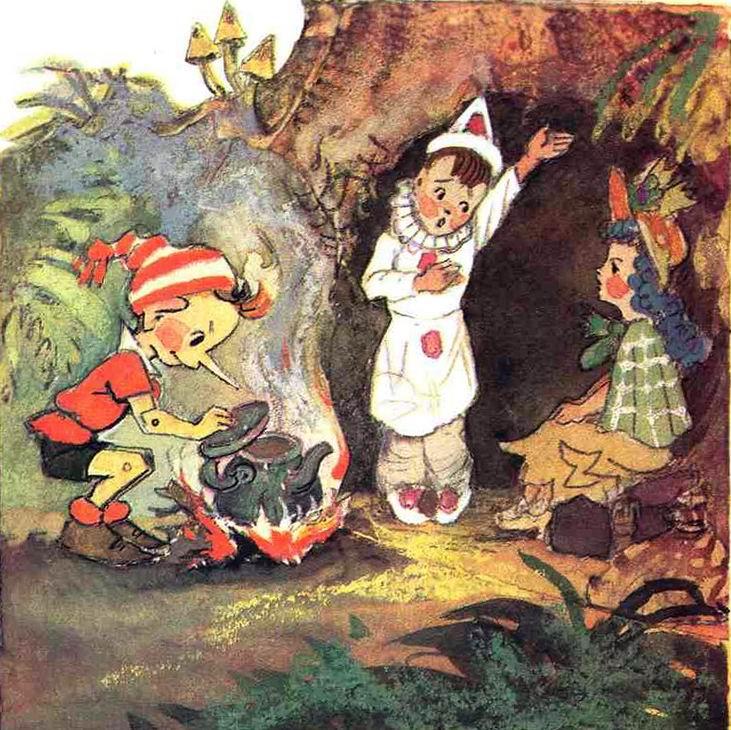 Картинки сказка приключения буратино