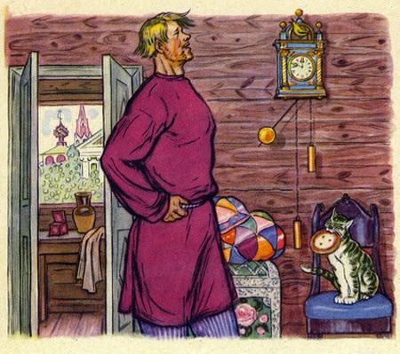 балда пушкина с картинками старых тряпок, красная